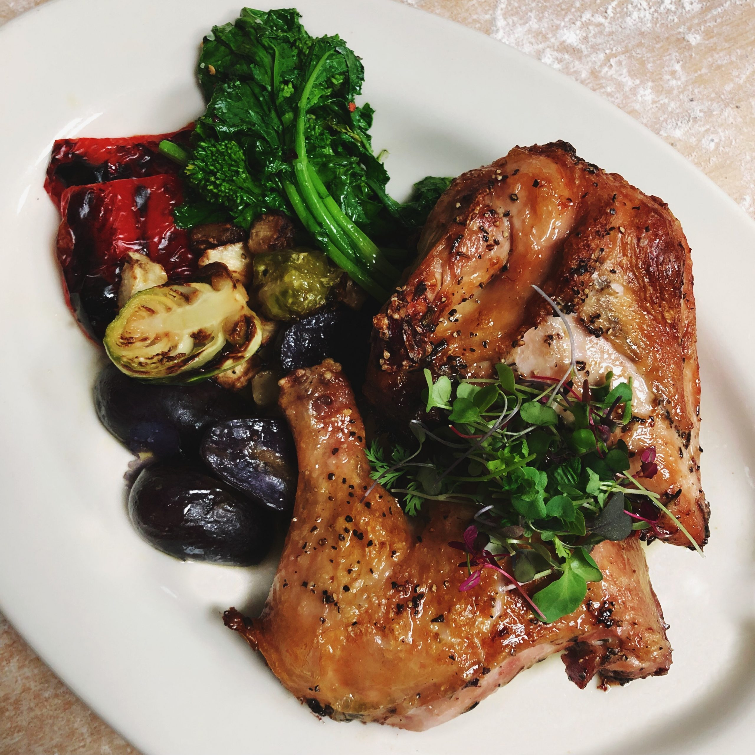 Free Range Chicken with grilled vegetables